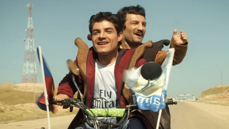 El clasico tells the story of two Kurdish brothers who risk their lives by riding a motorbike to Spain to meet their hero, soccer superstar Cristiano Ronaldo.