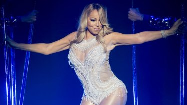 Mariah Carey performs during her European tour at the SSE Hydro in Glasgow, Scotland, on March 15.