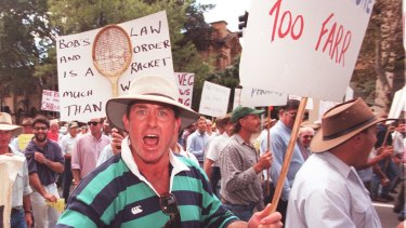 Farmers have been demanding more rights to clear vegetation for years. This photo dates from 1998.
