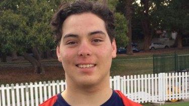 Son of a gun: Elijah Eales will make his NSW Premier Cricket debut this weekend for Mosman.