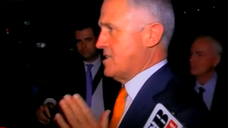 Prime Minister Malcolm Turnbull answers questions about the raids.