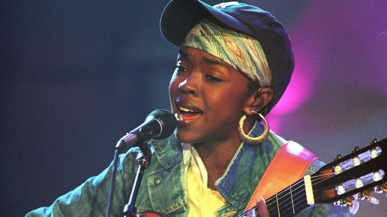 Lauryn Hill performs during a taping of MTV Unplugged in 2001.