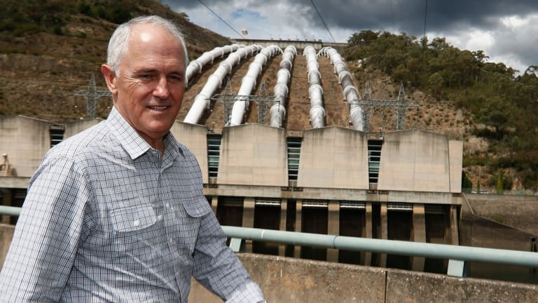 Malcolm Turnbull at the Snowy Hydro power station in March.