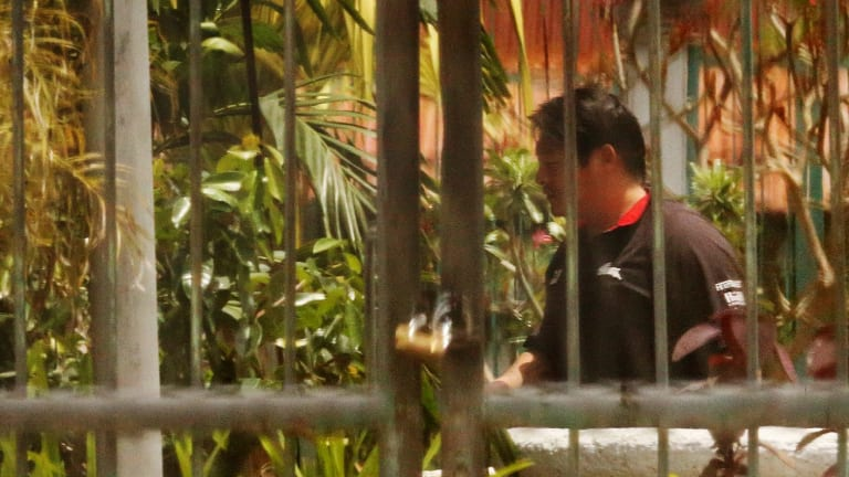 Andrew Chan, one of the Bali nine duo, photographed yesterday in Kerobokan prison.