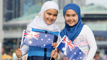 The original image used in the controversial billboard was taken at Docklands on Australian Day 2016, and featured on the Victorian government website.