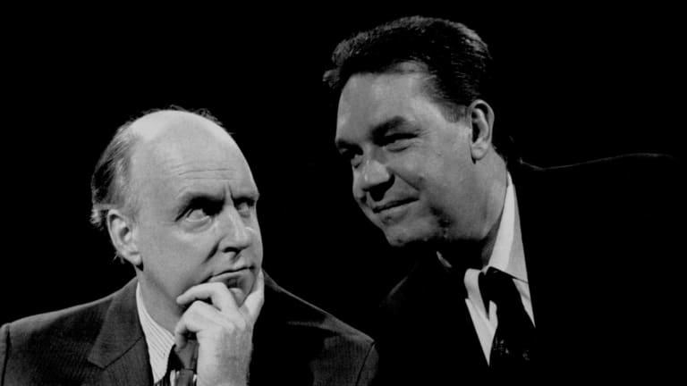 John Clarke with Bryan Dawe.