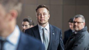 Elon Musk in Adelaide on Friday.