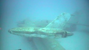 The wreckage of a Pel-Air Westwind jet off Norfolk Island.