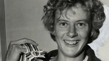Australian gold-medalist, Betty Cuthbert at the Summer Olympics held in Tokyo, Japan, 1964.