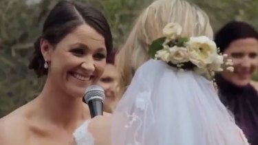 A still from the Marriage Equality ad aired during The Bachelor finale.