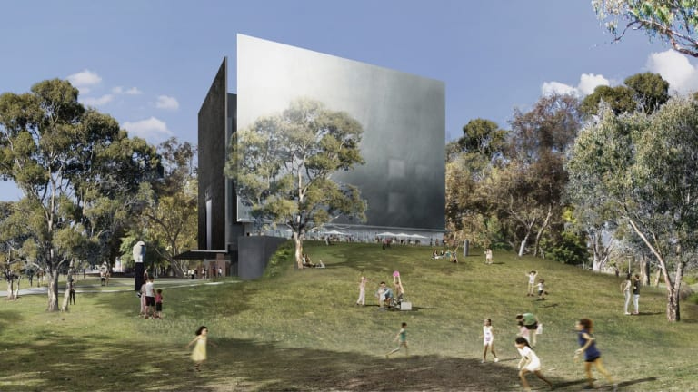 Denton Corker Marshall's proposal for SAM. SAM will house philanthropist Carrillo Gantner's Indigenous art as well as a nationally significant ceramics collection.