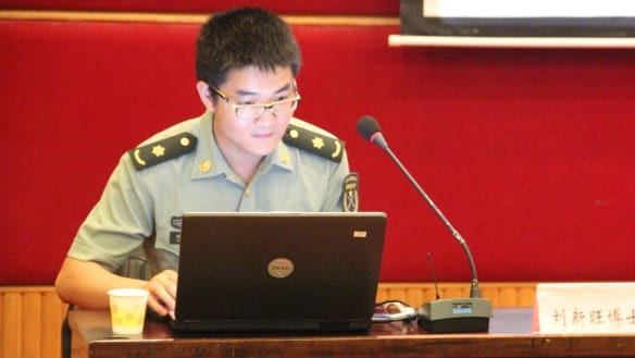 Liu Xinwang, a PLA officer and computer science expert who visited ANU for a year.