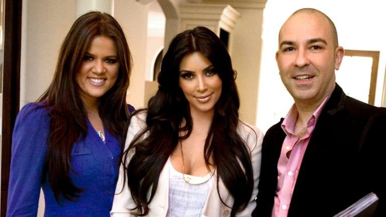 Bruno Schiavi with Kim and Khloe Kardashian
