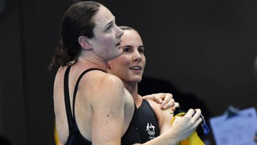 Cate, left, and Bronte Campbell did not perform up to expectations.