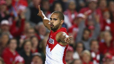 On the move: Lewis Jetta.