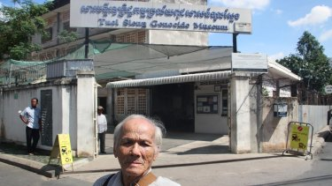 Bou Meng, who was tortured by Pol Pot's Khmer Rouge regime in Cambodia's infamous Tuol Sleng prison,  returns daily to sell copies of a book about his ordeal and talk to visitors at what is now a genocide museum.