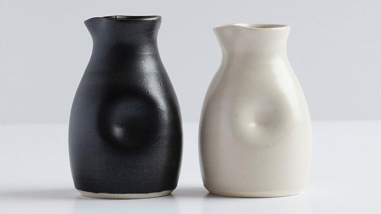 Milk jugs, $24 each.