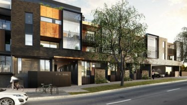 The proposed development at 3-5 Shiel Street in North Melbourne.