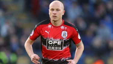 Huddersfield Town's Aaron Mooy was stretchered off against Bournemouth on Sunday.