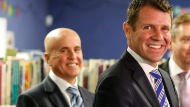 Premier Mike Baird and Minister for Education Adrian Piccoli at Ryde East Public School.