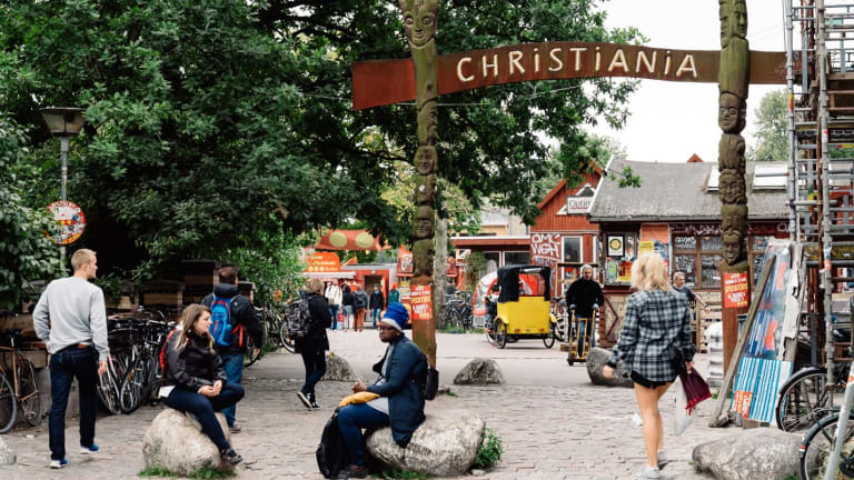 The bold social experiment that is Christiania in Copenhagen.