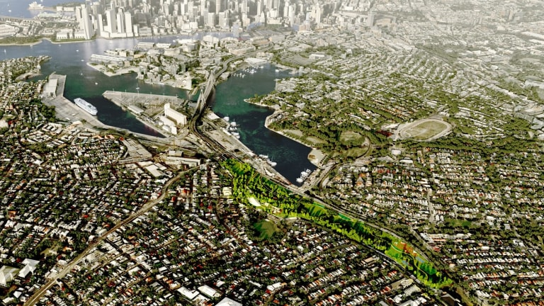 Impressions of how the Rozelle underground project would look on completion.