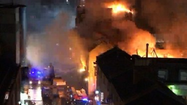 A large blaze has broken out at Camden Market in London.