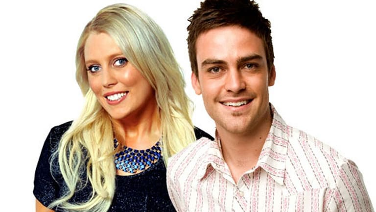 Mel Greig with former 2Day FM co-host, Michael Christian.