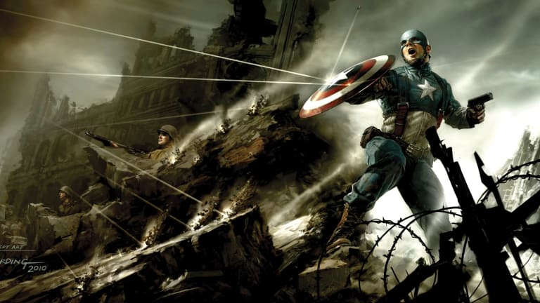 Ryan Meinerding, playing card no. 2, (detail) concept art for Captain America: The First Avenger 2011.