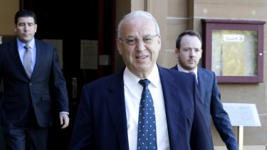 Eddie Obeid arrives at Darlinghurst Supreme Court before the jury is discharged.