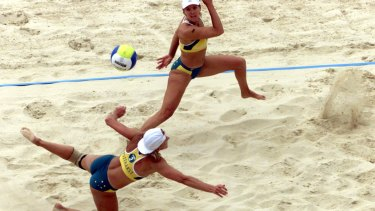 Beach volleyball at the Sydney Olympics.
