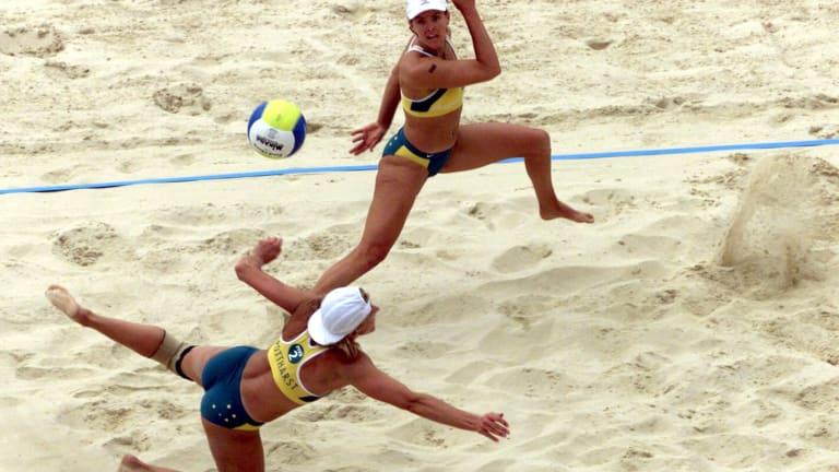 Beach volleyball at the Sydney Olympics.