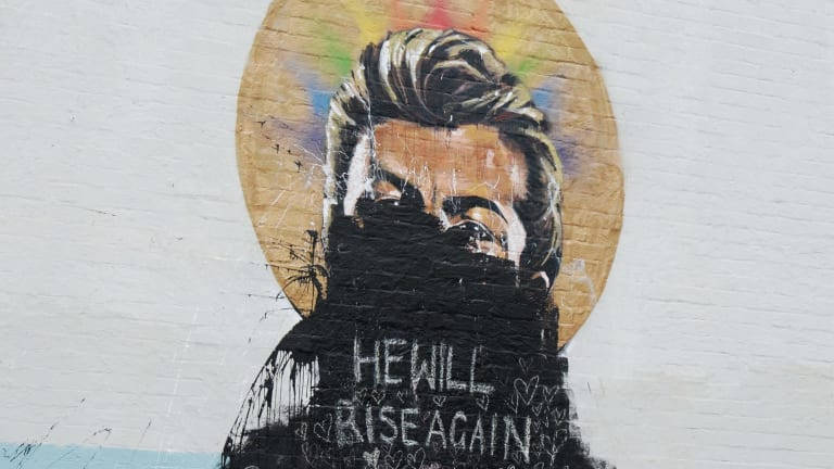 The mural in Erskineville has been vandalised multiple times over the past week,