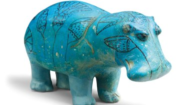 Different cultures through the years have been tied to animals in religious, moral and decorative themes, such as this hippopotamus sculpture c.1961-1878 BC.