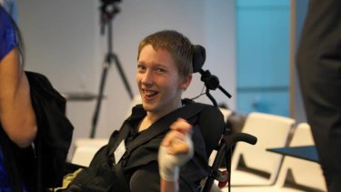 Video producer and assistive tech advocate Christopher Hills.