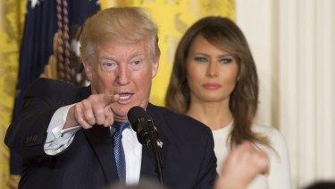 Winning: President Donald Trump