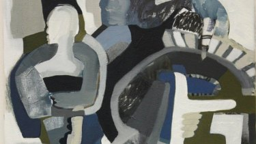 A detail of Kirsty Budge's <i>Here comes your man</i>, 2016.