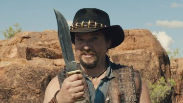 Danny McBride is Brian Dundee, in an apparent tourism ad.