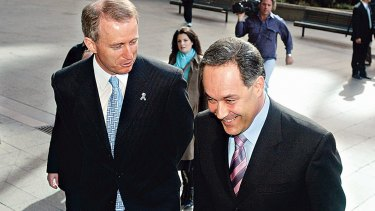 NSW Premier elect, Morris Iemma, and Carl Scully taken in 2005.