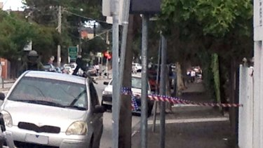 Hotham Street was closed as police inspected the suspicious package.