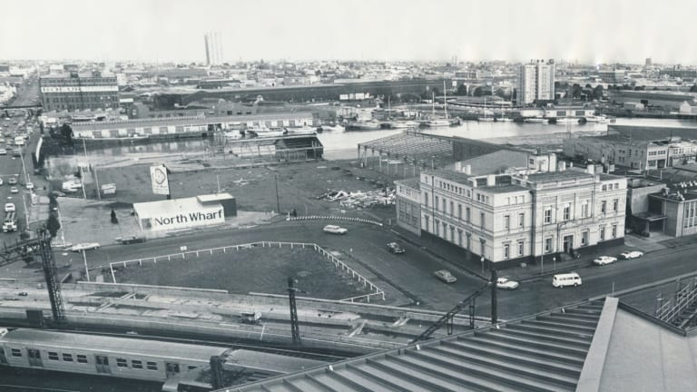 The site in 1978 before it was redeveloped.