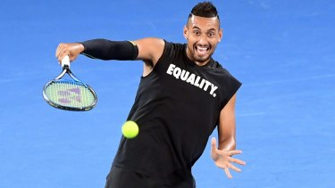 Talent to burn: John Newcombe says Nick Kyrgios has matured as a player.
