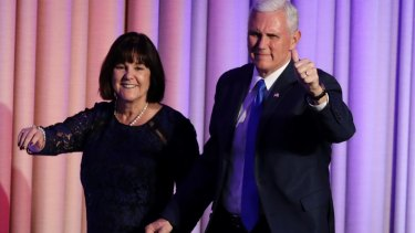 Vice-President-elect Mike Pence and his wife Karen Pence.