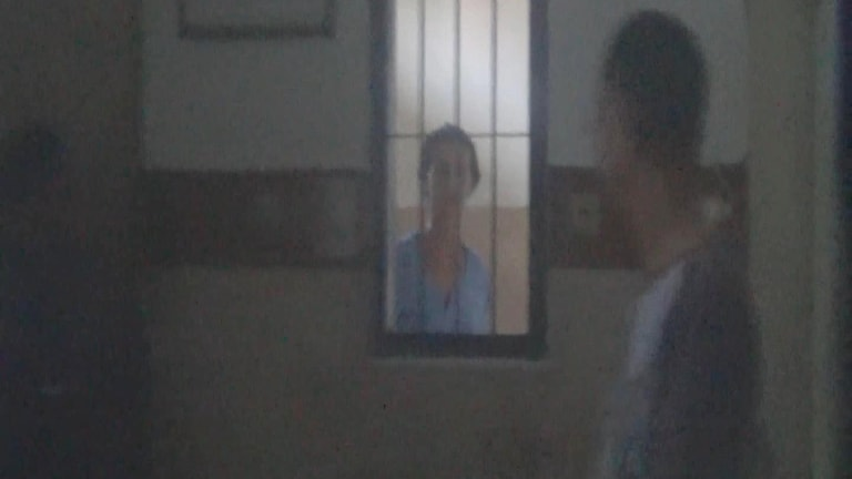 Sara Connor in her cell in Indonesia.