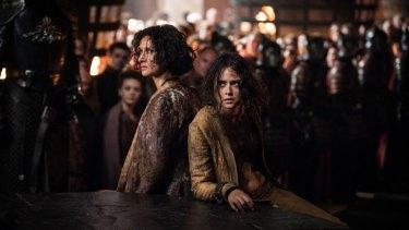 Pucker up Ellaria Sand (Indira Varma) and her daughter Tyene (Rosabell Laurenti Sellers) are doomed.