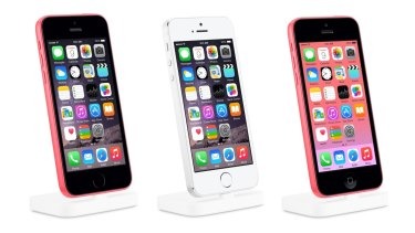 New phone or photoshop fail? From left: the mystery phone that some believe represents a new 'iPhone 6C', the iPhone 5S and the iPhone 5C.