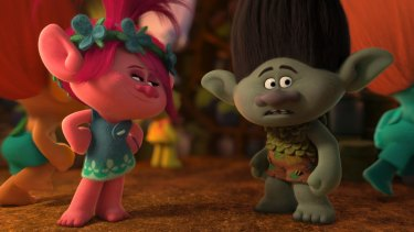 Trolls lowers the bar for garish, computer-animated comedy.