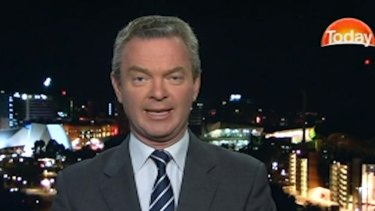 """Obviously it was disrupted on Tuesday night by elements here in Australia"": Defence Industry Minister Christopher Pyne."