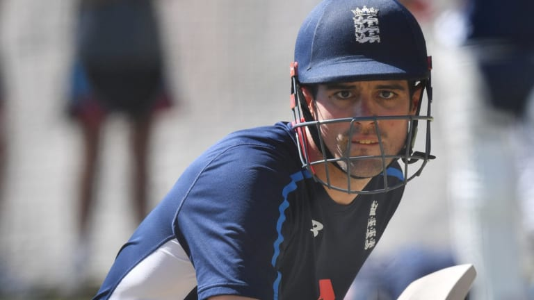 Alastair Cook is struggling for runs in the Ashes warm-up games.