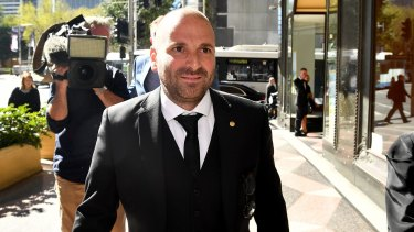 George Calombaris pleaded guilty in August to assaulting a teenager at the A-League grand final in Sydney.